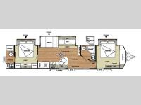 Floorplan - 2014 Forest River RV Salem Villa Series 4002Q Classic