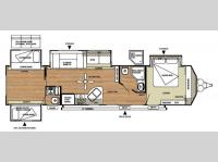 Floorplan - 2014 Forest River RV Salem Villa Series 402QBQ Classic