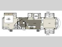 Floorplan - 2014 Forest River RV Sierra 366FL