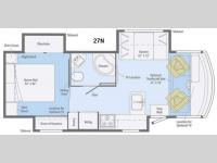 Floorplan - 2014 Itasca Sunstar 27N