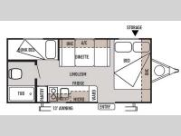 Floorplan - 2014 Forest River RV Wildwood X Lite FS 195BH