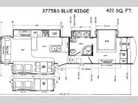 Floorplan - 2014 Forest River RV Blue Ridge 3775BS