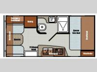 Floorplan - 2014 Gulf Stream RV Vista Cruiser 17RWD