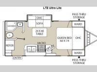 Floorplan - 2014 Coachmen RV Freedom Express 192RBS