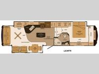 Floorplan - 2014 Lifestyle Luxury RV Lifestyle LS36FW