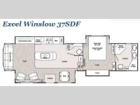 Floorplan - 2014 Peterson Excel Winslow 37SDF