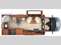 Floorplan - 2014 Leisure Travel Unity U24MB