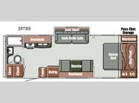 Floorplan - 2014 Gulf Stream RV Streamlite Ultra Lite 25 TSS