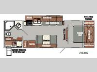 Floorplan - 2014 Gulf Stream RV Streamlite Ultra Lite 26 RBK