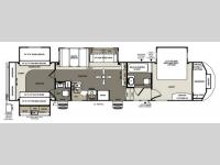 Floorplan - 2014 Forest River RV Sandpiper 365SAQB
