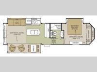 Floorplan - 2014 Forest River RV Cedar Creek Silverback 29IK