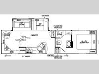 Floorplan - 2007 Forest River RV Wildwood LA 296RLSS