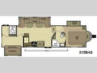 Floorplan - 2014 Open Range RV Light LF315BHS