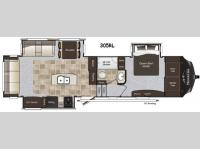 Floorplan - 2014 Keystone RV Montana High Country 305RL