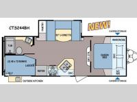 Floorplan - 2014 Dutchmen RV Coleman Expedition CTS244BH