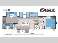 Floorplan - 2014 Jayco Eagle 324BHTS