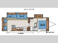 Floorplan - 2014 KZ Spree 323CSB