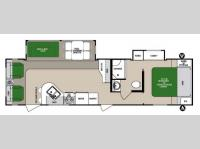 Floorplan - 2014 Forest River RV Surveyor Pilot SV 34RLDS