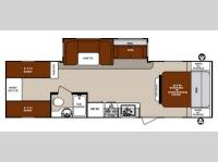 Floorplan - 2014 Forest River RV Surveyor Cadet SC 294QBLE
