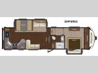 Floorplan - 2014 Keystone RV Sprinter Wide Body 304FWRKS