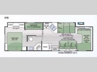 Floorplan - 2015 Thor Motor Coach Four Winds 31E Bunkhouse