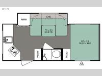 Floorplan - 2015 Forest River RV R Pod RP 179