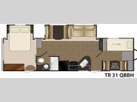 Floorplan - 2014 Heartland Trail Runner 31QBBH