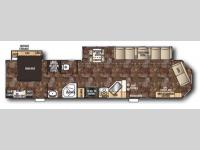 Floorplan - 2014 Forest River RV Cherokee 39F