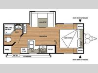 Floorplan - 2014 Forest River RV Salem Cruise Lite 231RBXL