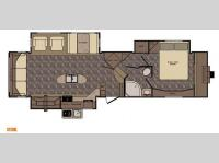 Floorplan - 2015 CrossRoads RV Sunset Trail Reserve SF33RL