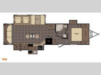 Floorplan - 2015 CrossRoads RV Sunset Trail Reserve ST32RL