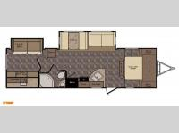 Floorplan - 2015 CrossRoads RV Sunset Trail Super Lite ST300BH