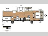 Floorplan - 2015 Forest River RV Wildwood Heritage Glen 312QBUD