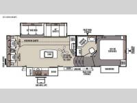 Floorplan - 2015 Forest River RV Flagstaff Classic Super Lite 8528RLIKWS