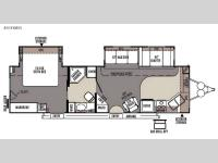 Floorplan - 2015 Forest River RV Flagstaff Classic Super Lite 831FKBSS