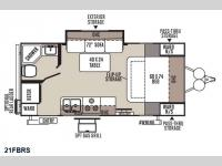 Floorplan - 2015 Forest River RV Flagstaff Micro Lite 21FBRS