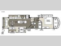 Floorplan - 2015 Forest River RV Sandpiper 35ROK