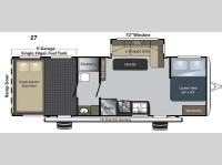 Floorplan - 2015 Keystone RV Carbon 27