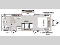 Floorplan - 2015 Forest River RV Wildwood 23FBS