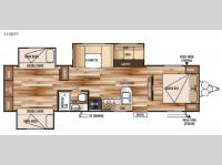 Floorplan - 2015 Forest River RV Wildwood 31QBTS