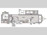 Floorplan - 2014 Forest River RV Wildwood DLX 39FDEN
