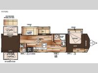 Floorplan - 2015 Forest River RV Wildwood DLX 402QBQ