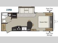 Floorplan - 2015 Keystone RV Passport 23RB Elite