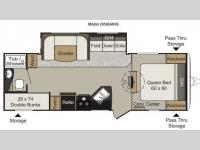 Floorplan - 2015 Keystone RV Passport 2650BHWE Grand Touring
