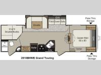 Floorplan - 2015 Keystone RV Passport 2810BHWE Grand Touring