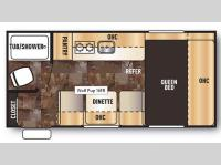 Floorplan - 2015 Forest River RV Cherokee Wolf Pup 16FB