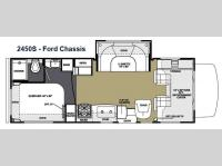 Floorplan - 2015 Forest River RV Sunseeker 2450S Ford