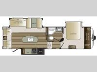 Floorplan - 2015 Keystone RV Cougar 280RLS