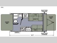 Floorplan - 2015 Coachmen RV Apex Ultra-Lite 151RBX