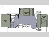 Floorplan - 2015 Coachmen RV Apex Ultra-Lite 17RAX